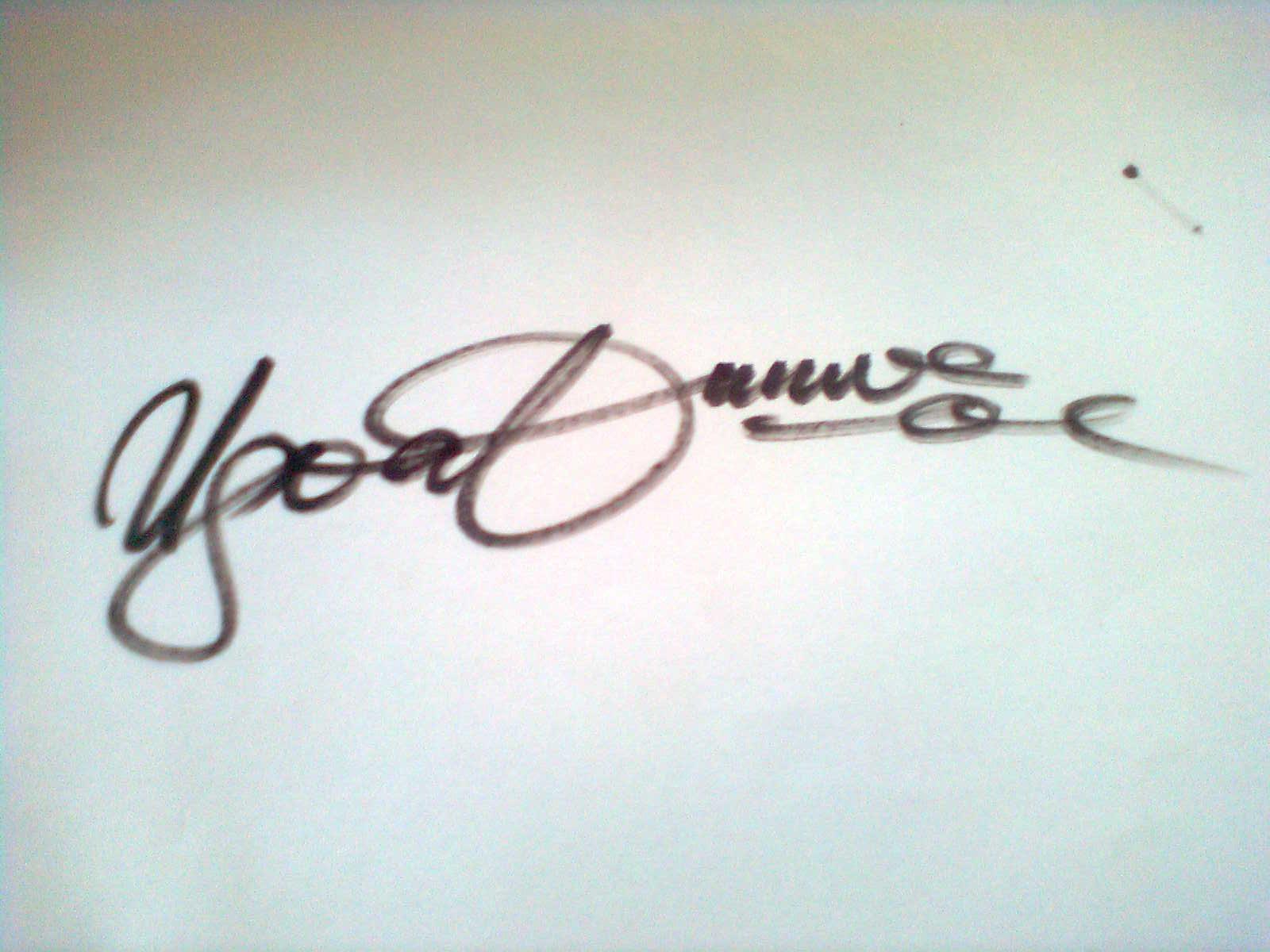 Cletus Ugoabunwa Signature