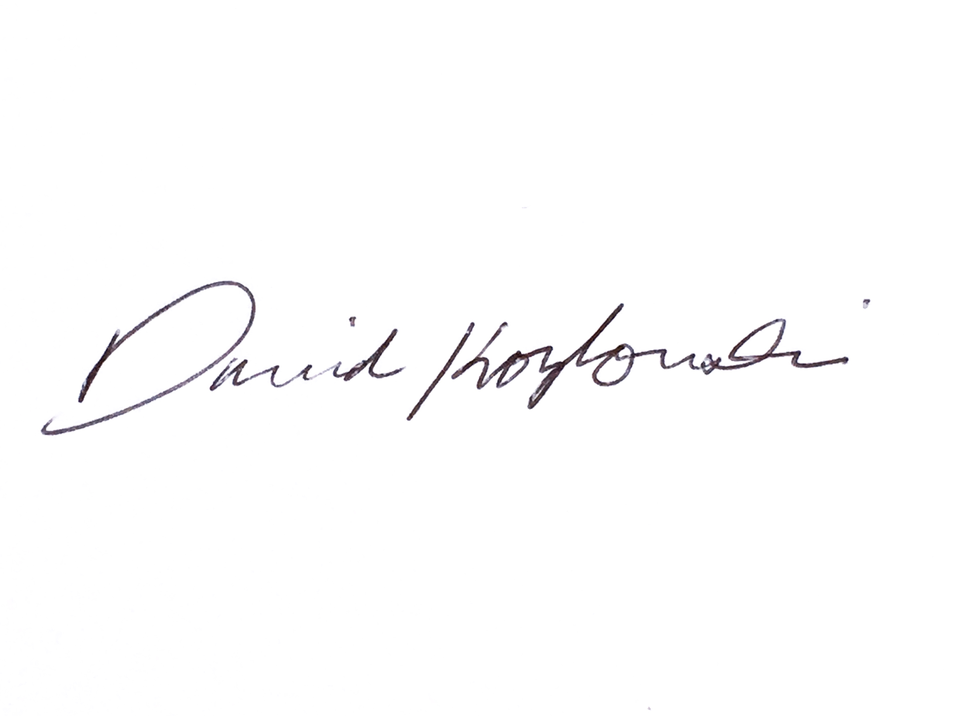 David Kozlowski Signature