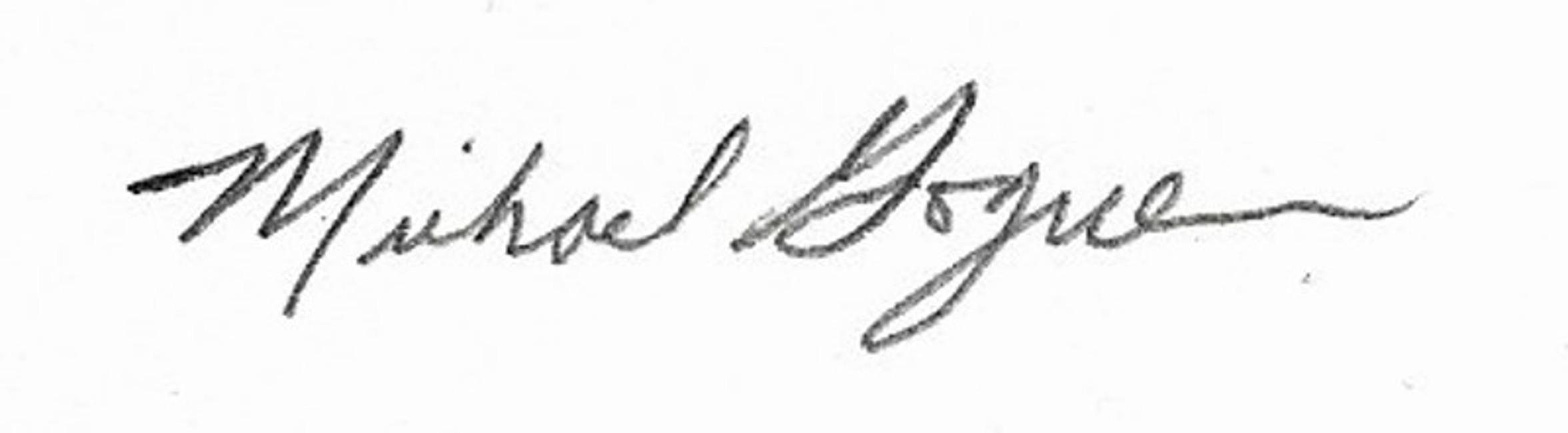 Michael Goguen Signature