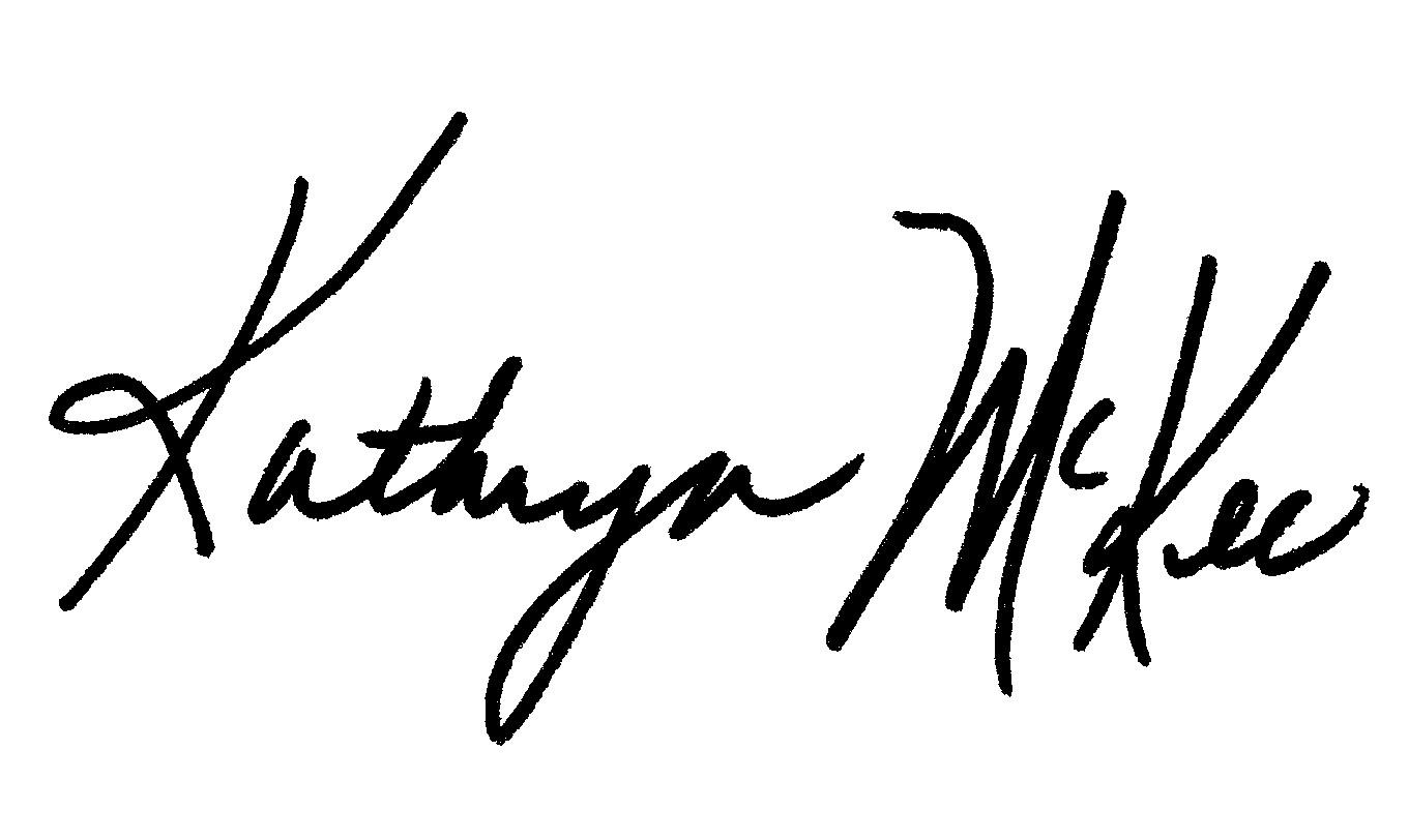 Kathryn McKee Signature