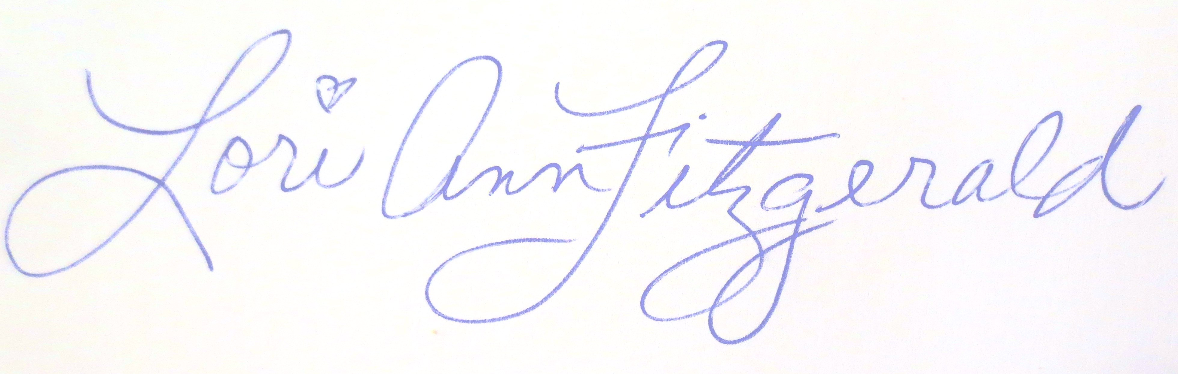 LORI ANN FITZGERALD Signature
