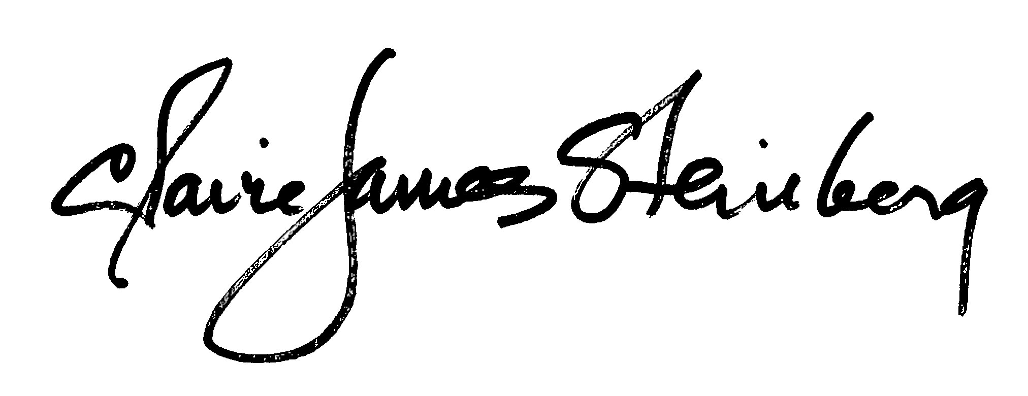 claire James Steinberg Signature