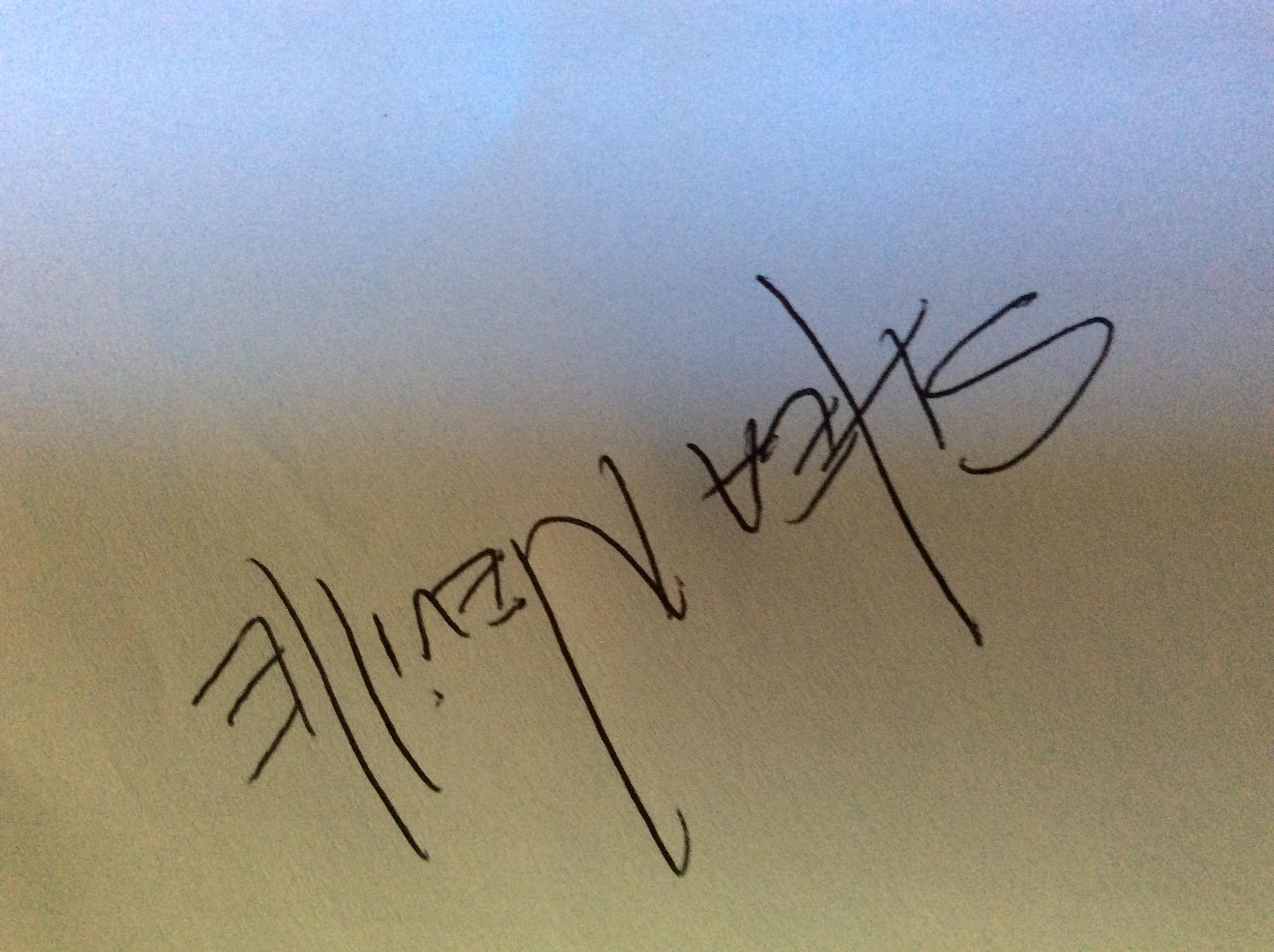 Shea Neville Signature