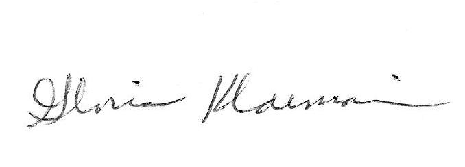 Gloria Klaiman Signature