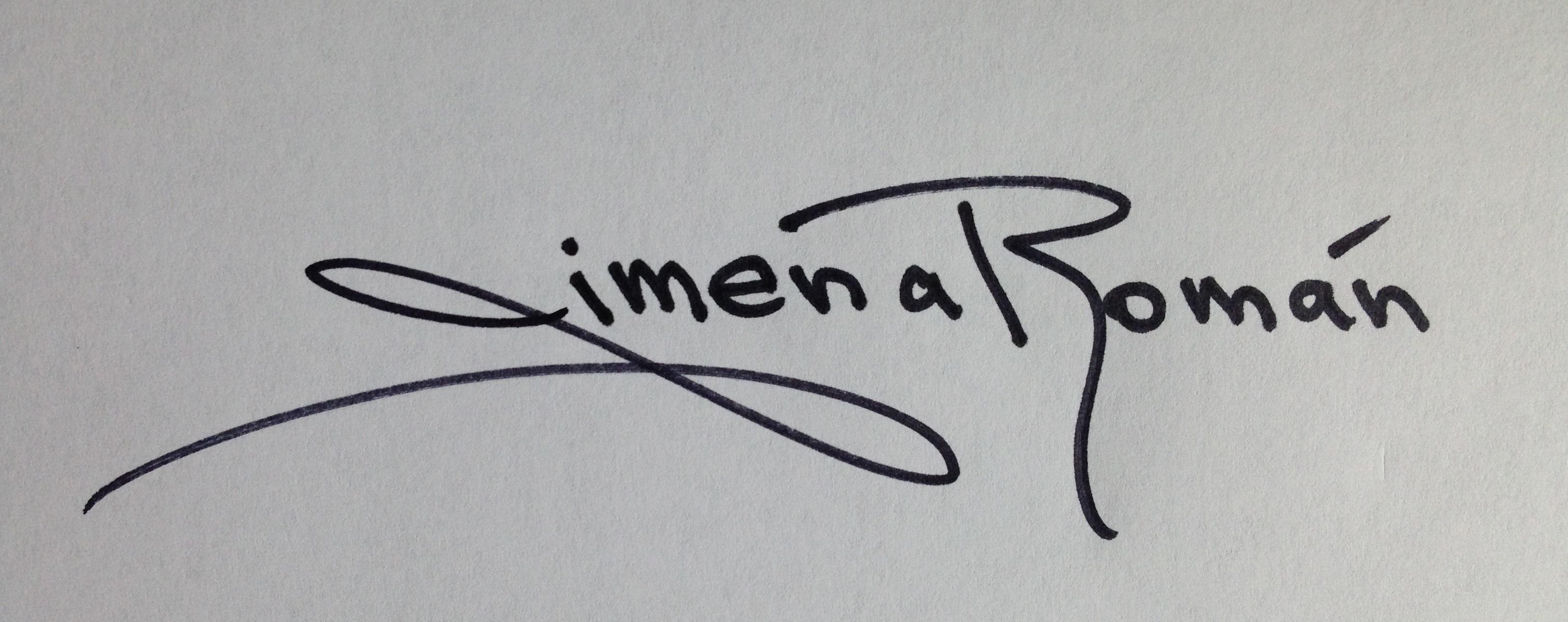 Jimena Roman Signature