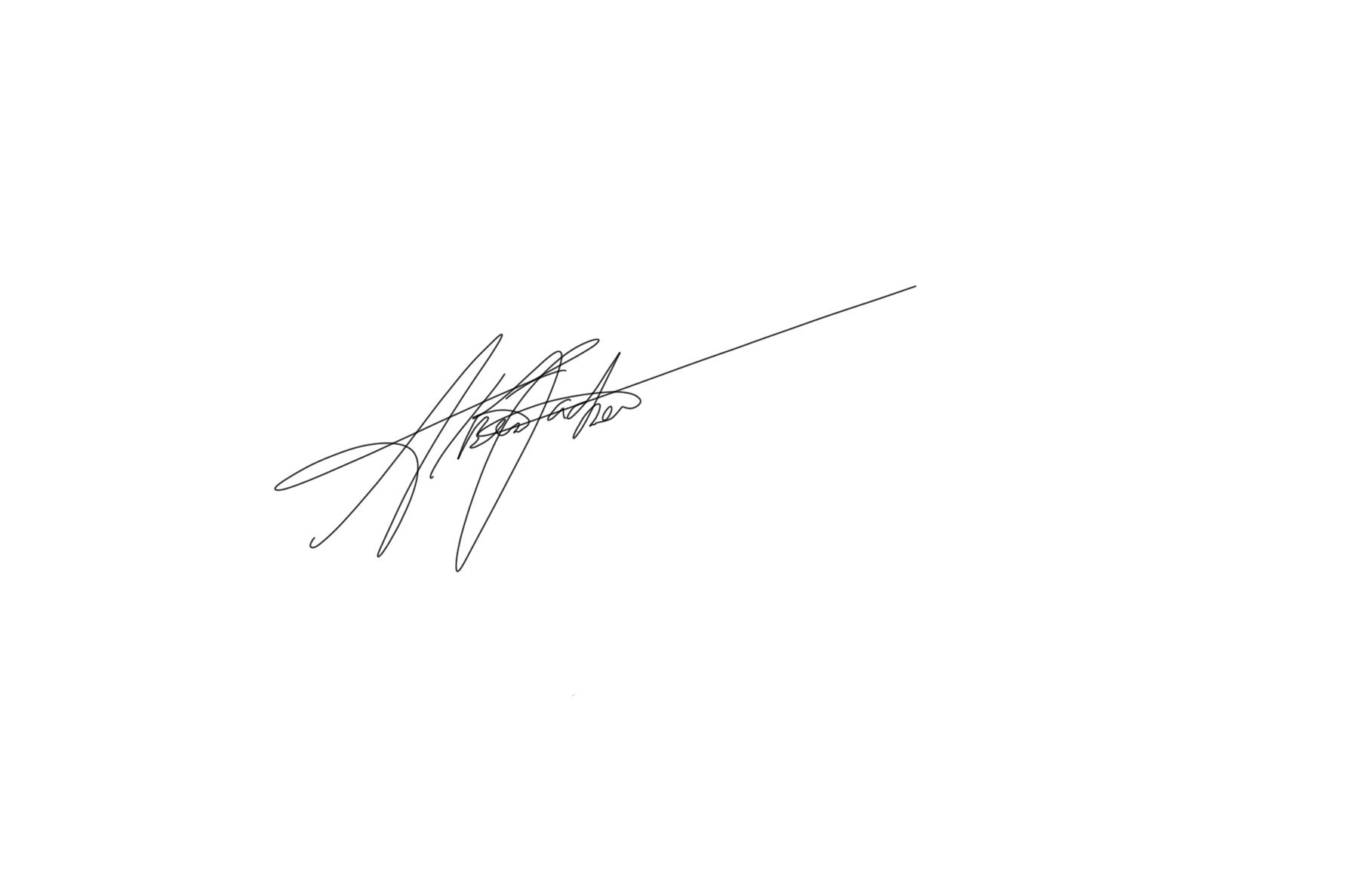 Alberto Pacheco Signature