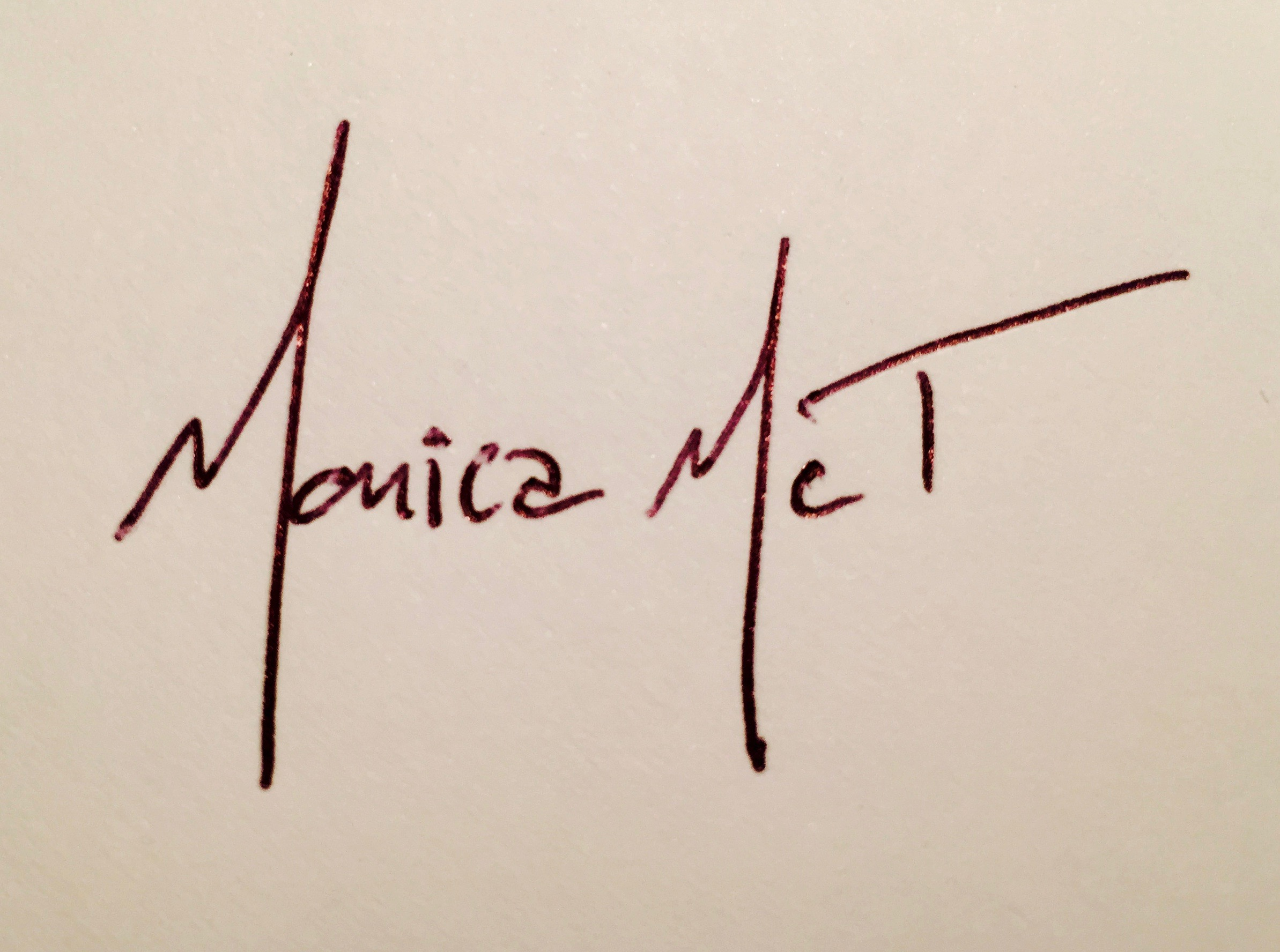 Monica McTaggart Signature