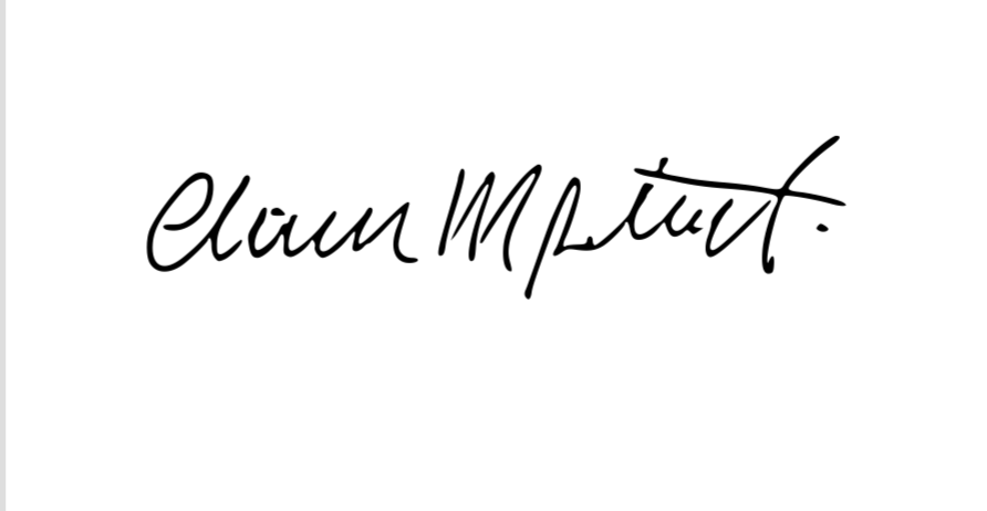 Claudio Potenti Signature