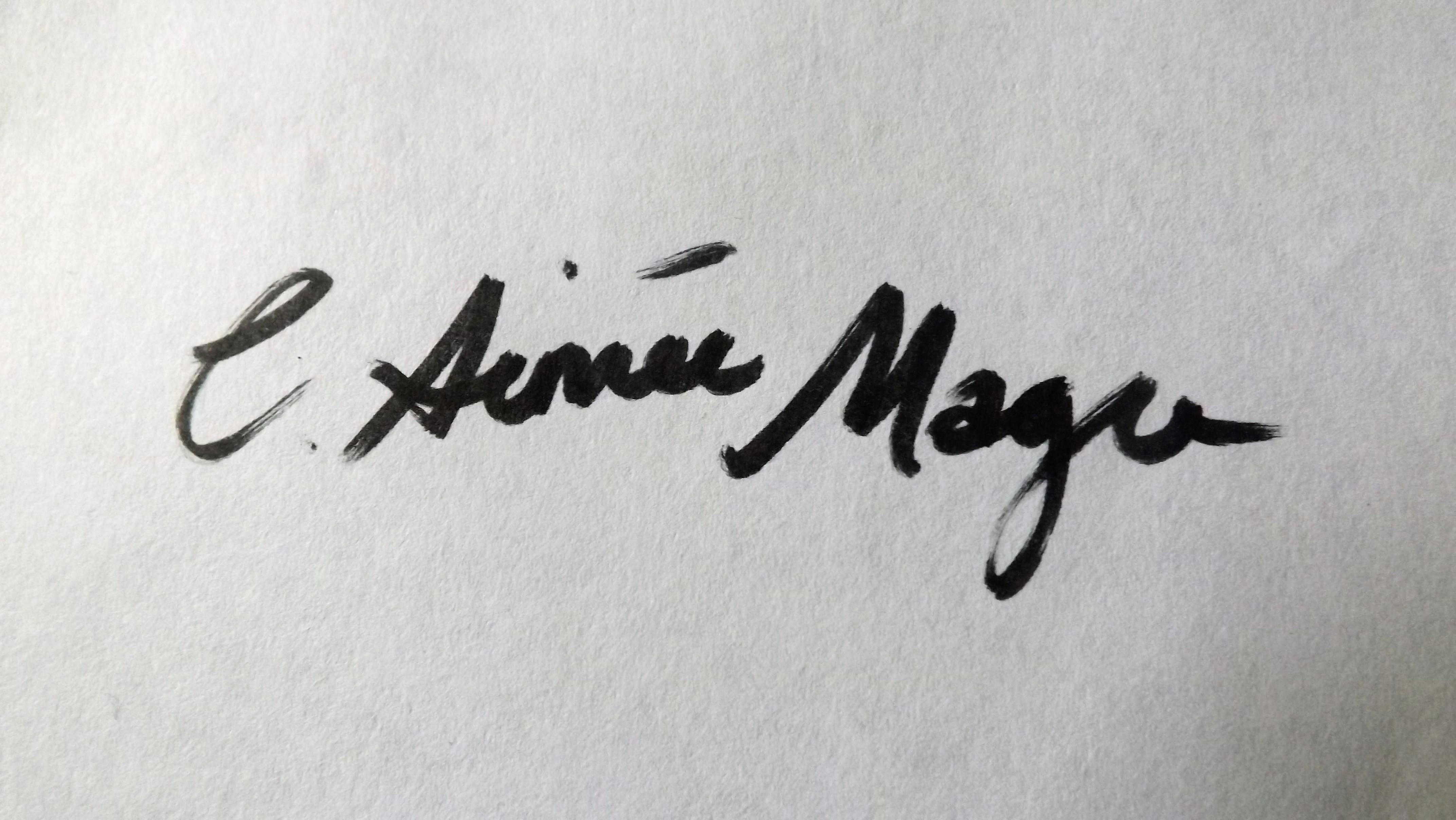 Catherine Aimee Magee Signature