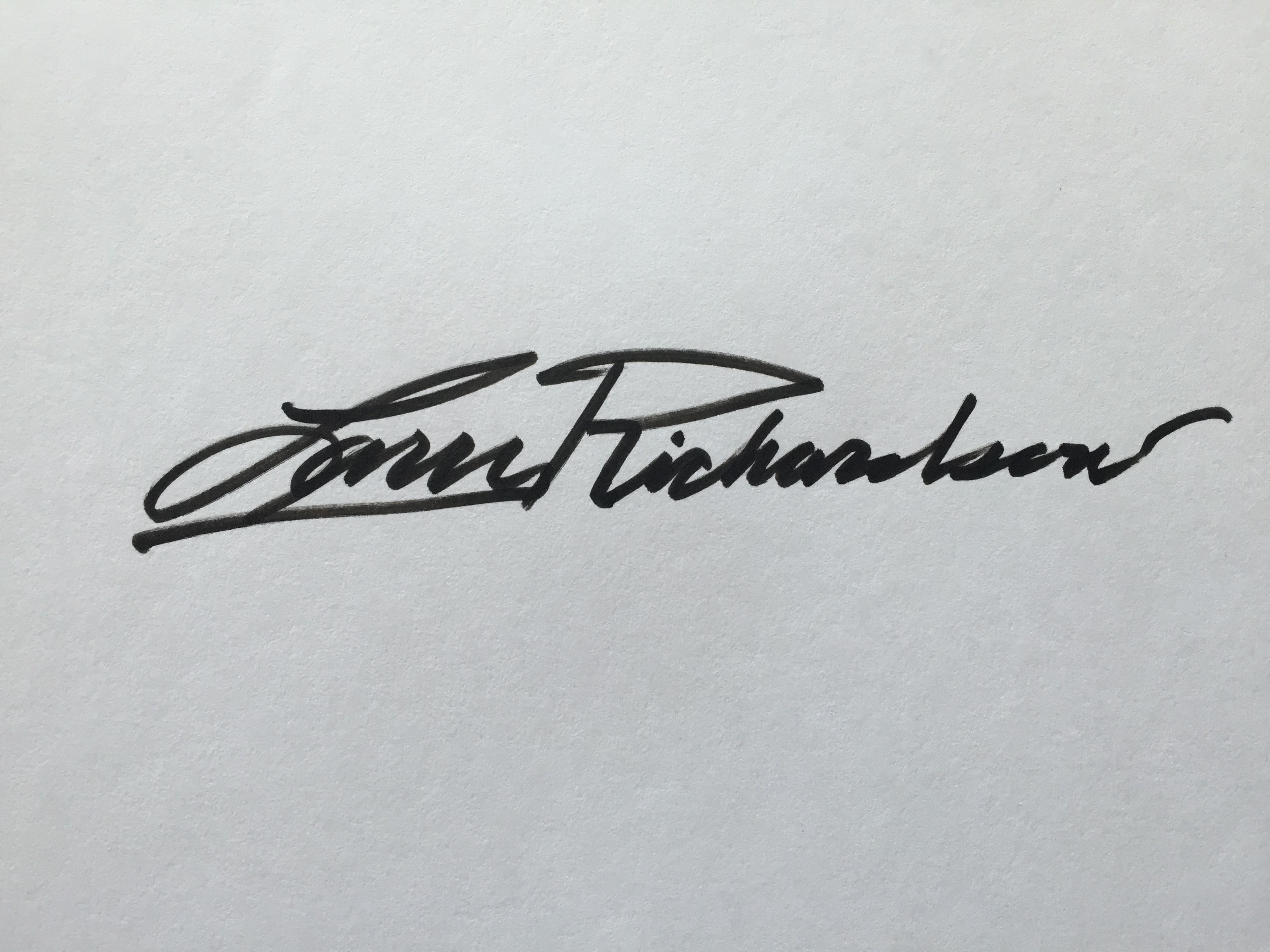 Larry Richardson Signature