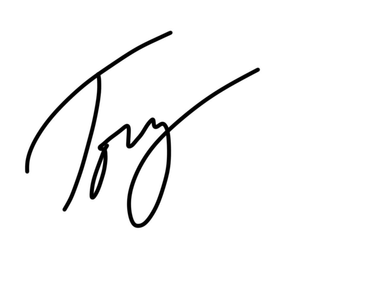 Jack Tovey Signature