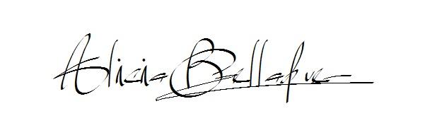 Alicia Belladue Signature