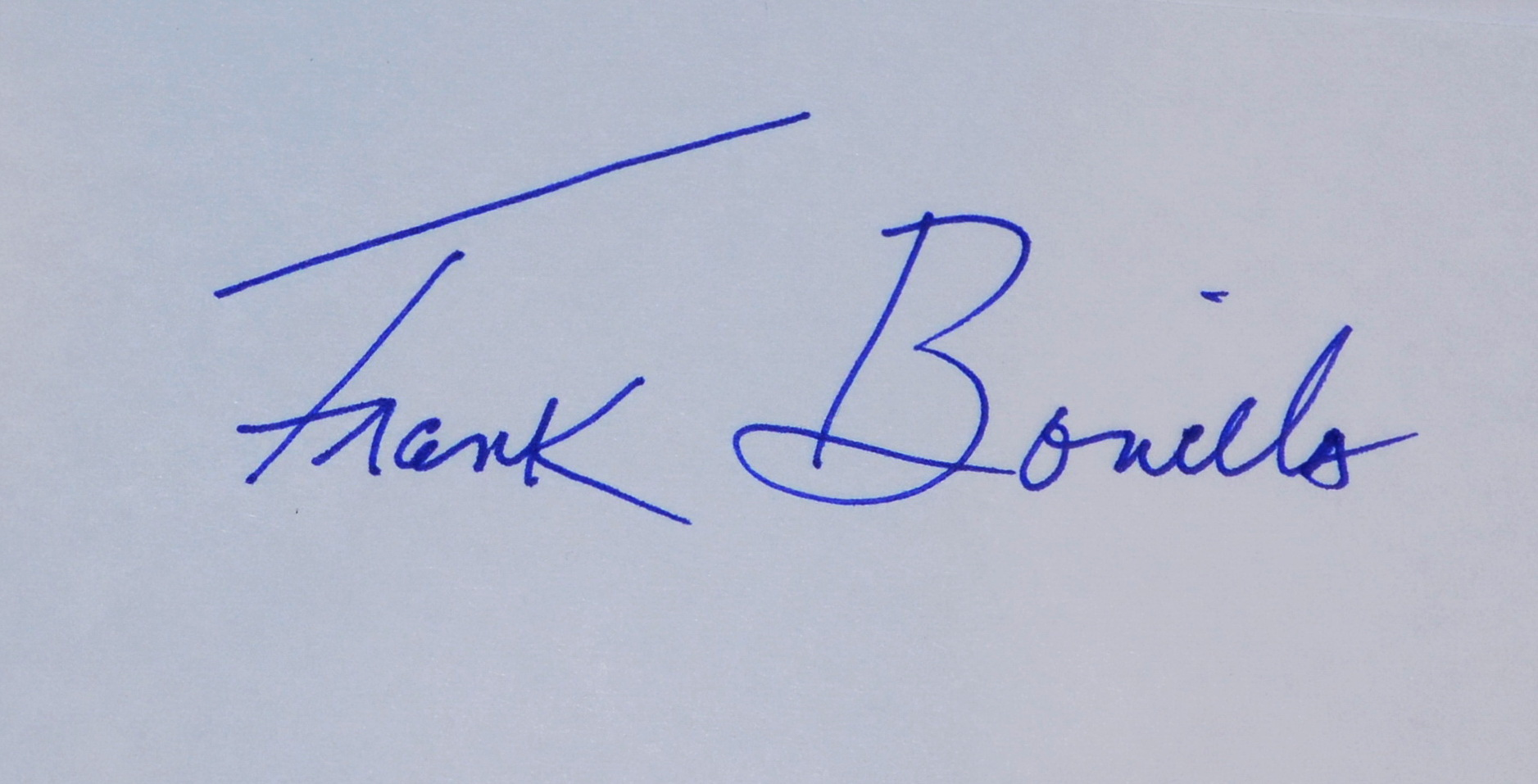 Visual Artist Frank Bonilla Signature