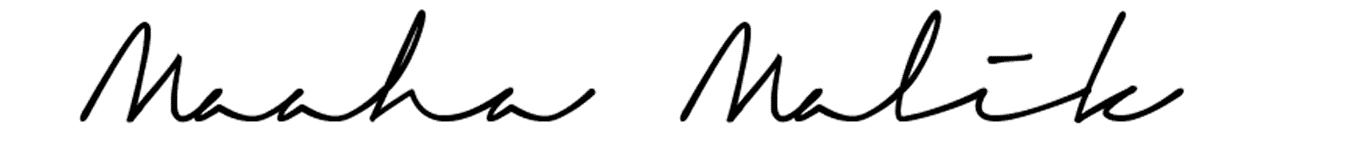 Maaha Malik Signature