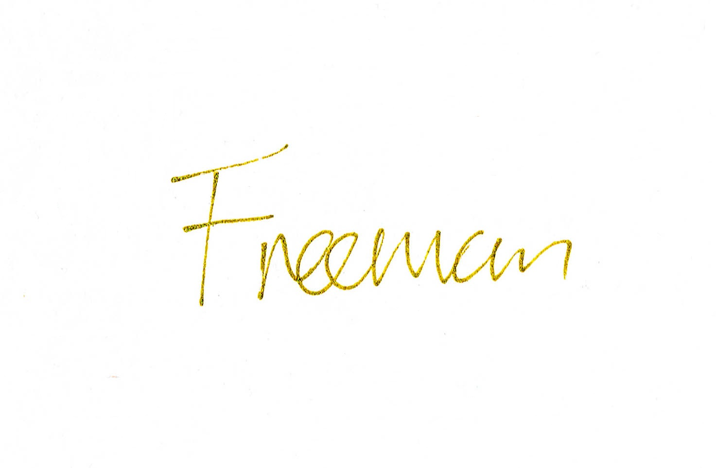 Freeman uk Signature