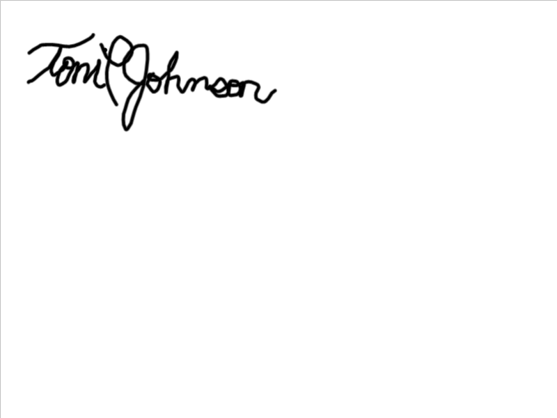 Toni Johnson Signature
