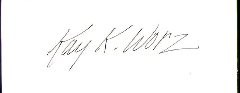 Kay Worz Signature