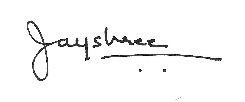 Jayshree Vakil Signature