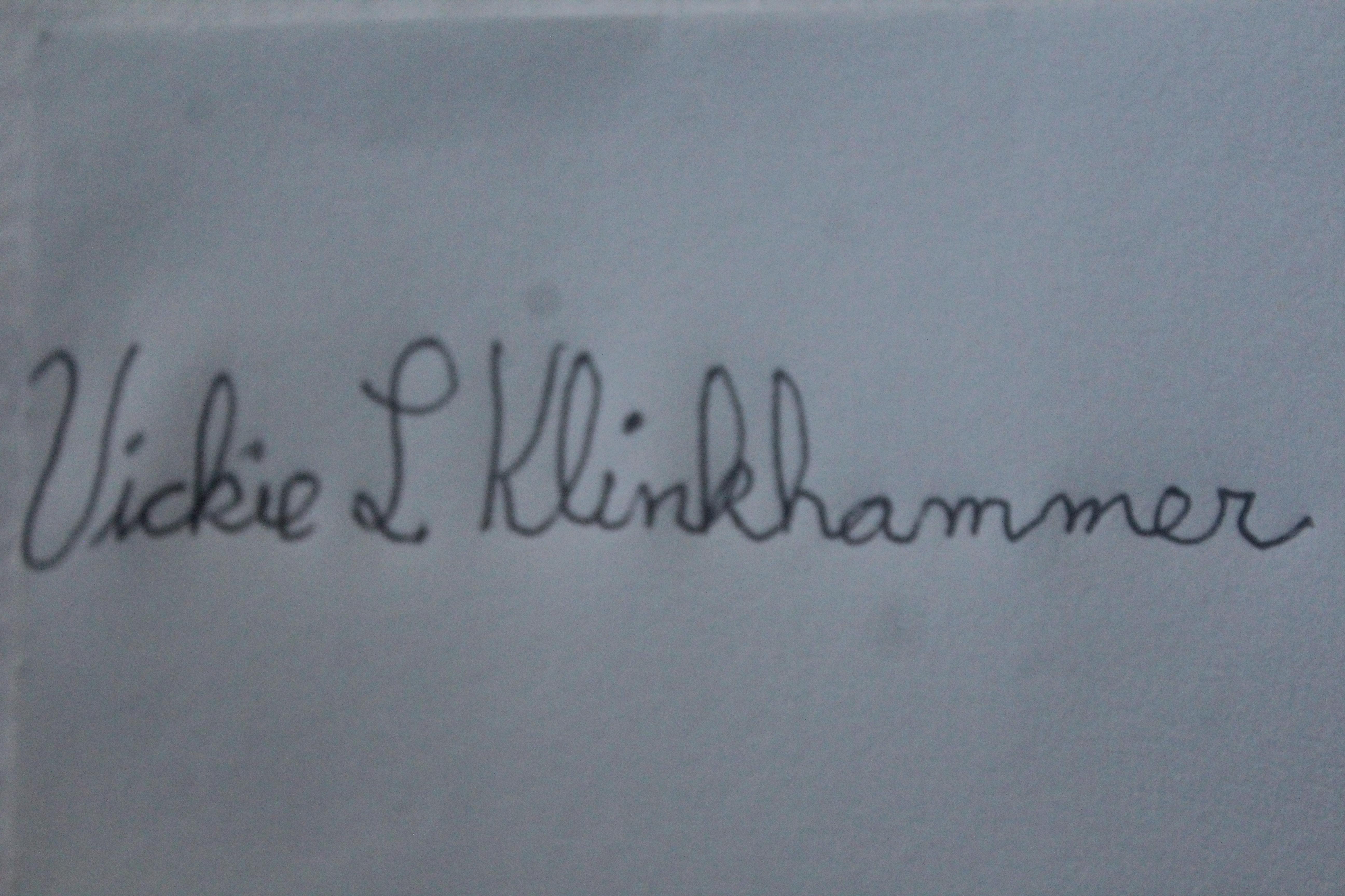 Vickie Klinkhammer Signature