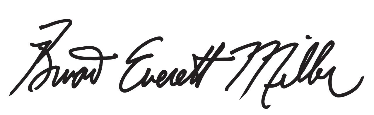 Brian Everett Miller Signature