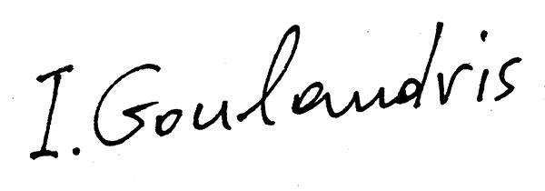 irene Goulandris Signature