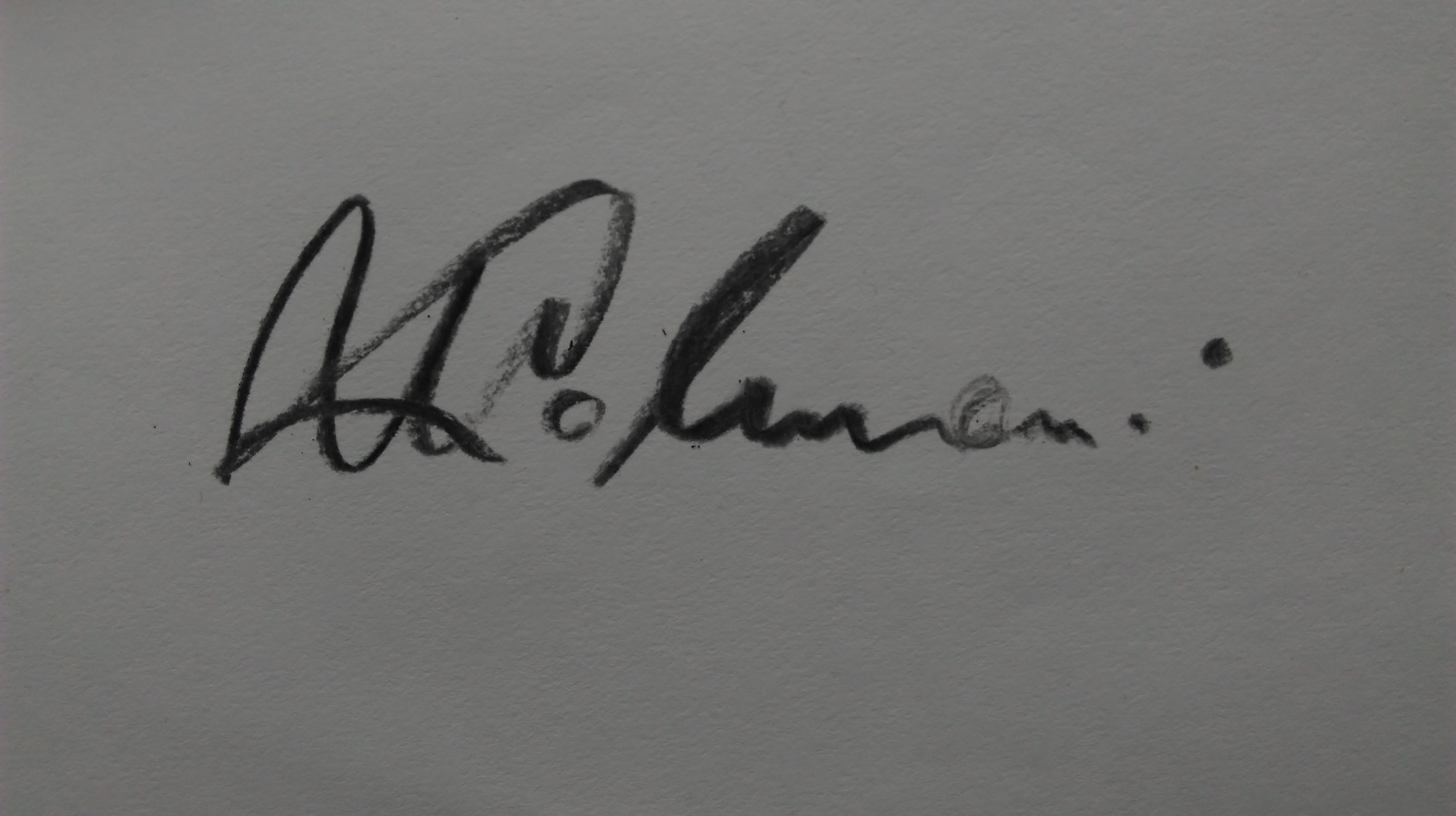 Marija Kolmanic Signature