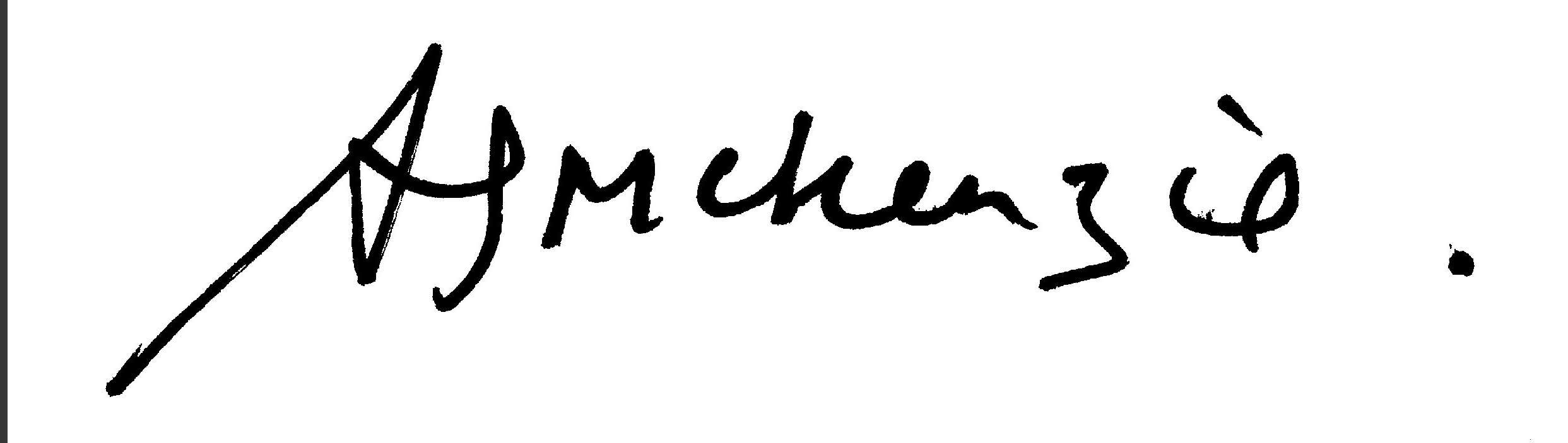angie Mckenzie Signature