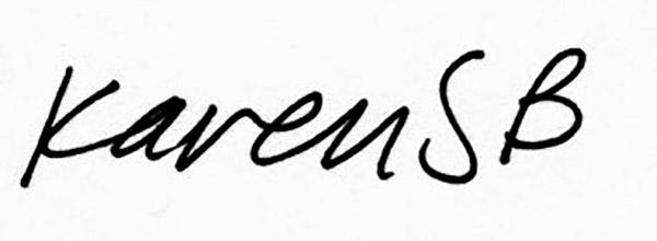 karen Stead Baigrie Signature