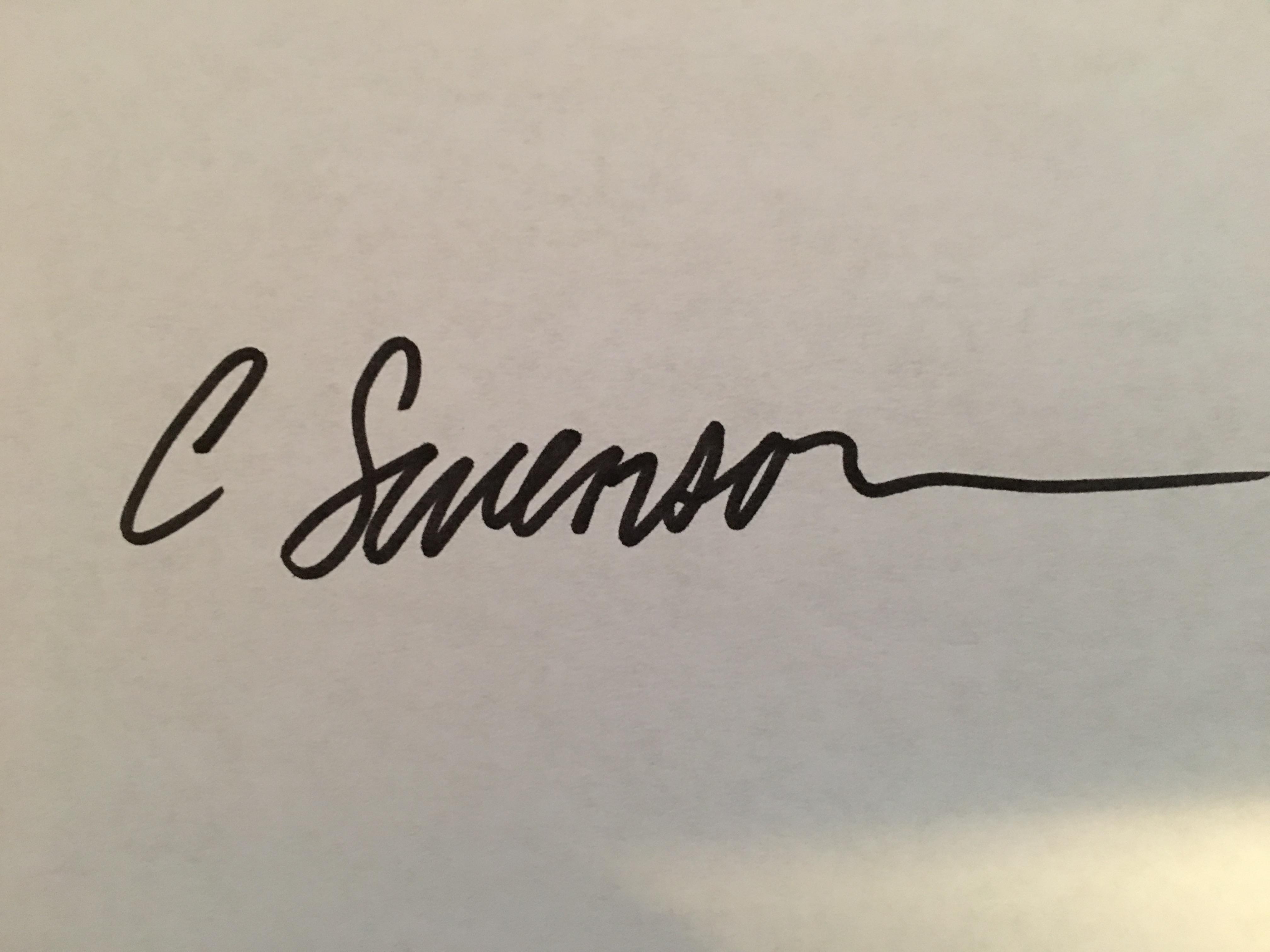 Collene swenson Signature